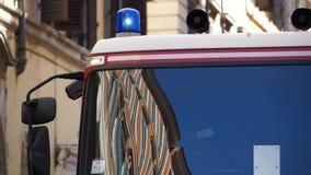 Escenas de un Firetruck del italiano (2 de 7) almacen de metraje de vídeo