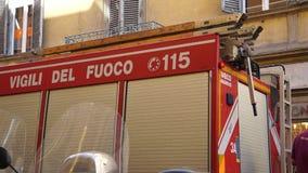 Escenas de un Firetruck del italiano (6 de 7) almacen de metraje de vídeo