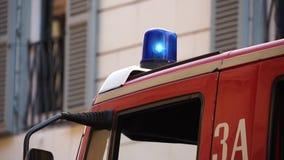 Escenas de un Firetruck del italiano (7 de 7) almacen de video