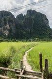 Escenas de Vang Vieng Imagen de archivo libre de regalías