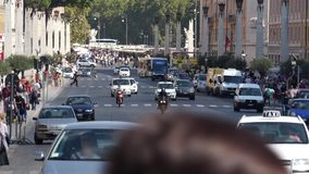 Escenas del tráfico en Roma (2 de 12) almacen de video