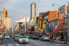 Escenas diversas de la ciudad de China en Toronto, Canadá Imagen de archivo libre de regalías