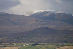 Escenas hivernales en las montañas escocesas Foto de archivo