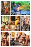 Escenas indias de la calle de la gente Imagen de archivo