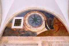 Escenas a partir de la vida de St Francis de Assisi, monasterio franciscano de los frailes de menor importancia en Dubrovnik Foto de archivo