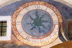 Escenas a partir de la vida de St Francis de Assisi, monasterio franciscano de los frailes de menor importancia en Dubrovnik Foto de archivo libre de regalías