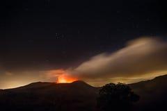 Escene ночи ландшафта Masaya вулкана Стоковые Фотографии RF