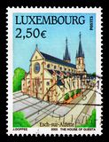 Esch-sur-Alzette, Tourism serie, circa 2003. MOSCOW, RUSSIA - AUGUST 18, 2018: A stamp printed in Luxembourg shows Esch-sur-Alzette, Tourism serie, circa 2003 stock photos