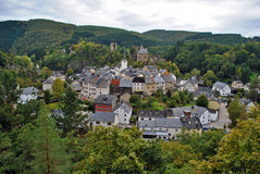Esch sur Sure. The small village of Esch sur Sure and his castle, Luxembourg Royalty Free Stock Images