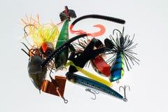 Esche di pesca differenti immagine stock
