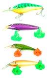 Esche di pesca isolate Fotografia Stock Libera da Diritti