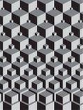 Escher ha ispirato l'impilamento dei cubi Fotografie Stock Libere da Diritti
