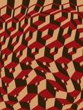 Escher inspiró los cubos combados Fotos de archivo