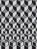 Escher inspired stacking cubes royalty free stock photos