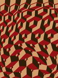 Escher inspired warped cubes stock photos