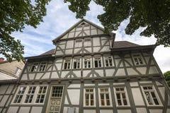 Eschwege miasta historyczny dom Hesse Germany Obraz Stock
