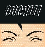 Esclamazione dell'illustrazione di arte di ouch-schiocco del fumetto Fotografia Stock Libera da Diritti