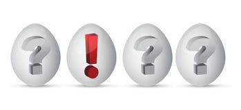 Esclamazione e domanda Immagine Stock