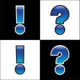 Esclamazione ed interrogazione Fotografia Stock