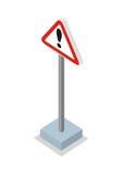 Esclamazione Mark Road Sign Vector Illustration Fotografie Stock