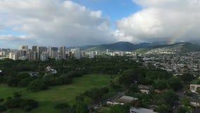 Esclarecimento da tempestade de Havaí da ilha de Oahu do arco do arco-íris de Honolulu filme