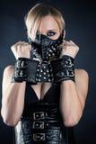 Esclavo en una máscara con los puntos Foto de archivo