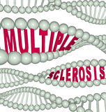 Esclerose múltipla na costa do ADN ilustração do vetor