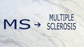 Esclerose-MS múltiplo Fotografia de Stock Royalty Free