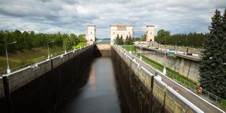 Esclusa de Rybinsk fotografía de archivo libre de regalías