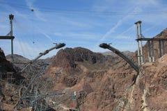 Esclusione alla diga di Hoover Immagini Stock
