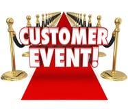 Esclusiva Inv del tappeto rosso di celebrazione di apprezzamento di evento del cliente Immagine Stock