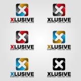 Esclusiva - logo della lettera X illustrazione vettoriale
