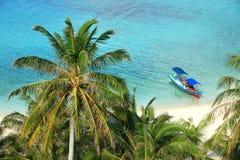 Escénico de una playa tropical del paraíso Imagenes de archivo