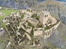 Esco,萨瓦格萨被放弃的村庄  免版税库存照片