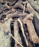 Escoba de madera Fotografía de archivo
