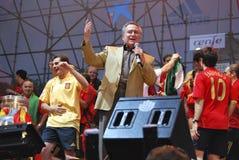 escobar的Manolo。西班牙歌手。Eurocup 2008年。19/10/1931- 24/10/ 库存图片