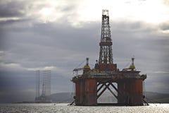 Escocia: Plataforma petrolera Imagenes de archivo