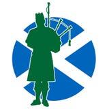 Escocés Piper Flag Fotografía de archivo libre de regalías