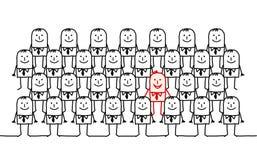 Escoja al hombre en una muchedumbre stock de ilustración