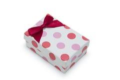 Escoja el rectángulo de regalo en el fondo blanco. Fotos de archivo libres de regalías