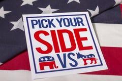 Escoja su elección presidencial lateral Imagenes de archivo
