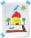 Escola ilustração royalty free