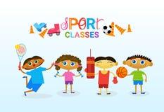Escola artística criativa de Art Classes For Kids Logo para a bandeira das crianças Fotografia de Stock Royalty Free