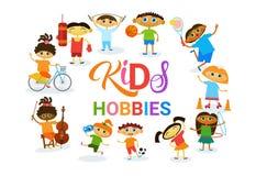 Escola artística de Art Classes Logo Workshop Creative dos passatempos das crianças para a bandeira do desenvolvimento de criança Imagem de Stock Royalty Free