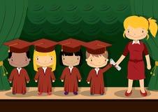 A escola caçoa a graduação Fotografia de Stock Royalty Free