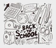 Escola - coleção dos doodles Imagem de Stock Royalty Free