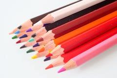 Escola colorida dos lápis que draeing imagem de stock royalty free