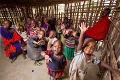 Escola da vila em África Foto de Stock Royalty Free