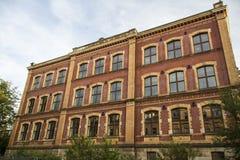 Escola de Alexander von Humboldt em Werdau, Alemanha, 2015 foto de stock royalty free