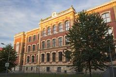 Escola de Alexander von Humboldt em Werdau, Alemanha, 2015 imagem de stock royalty free